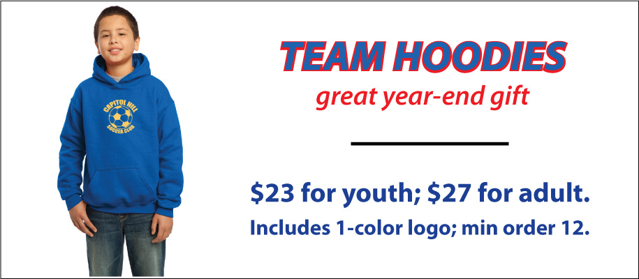 Soccer Team Hoodies, Hoody By Code Four Athletics