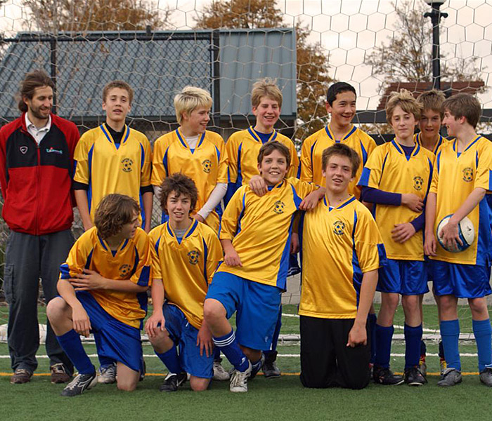Capitol Hill Soccer Team in Code Four Athletics Imperial uniform kit