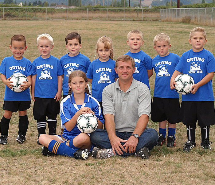 Orting Soccer Club in Code Four Athletics gear