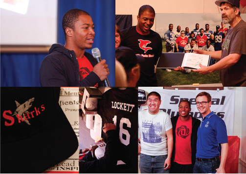 Seattle Seahawks WR Tyler Lockett and Seattle Parks and Recreation Specialized Programs team up with Code Four Athletics